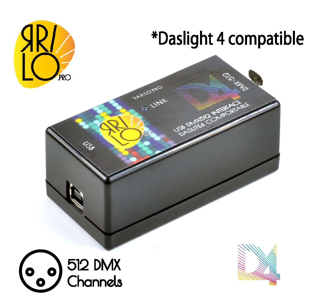 Details about USB DMX controller Yarilo DL4 NEW  Compatible with Daslight4