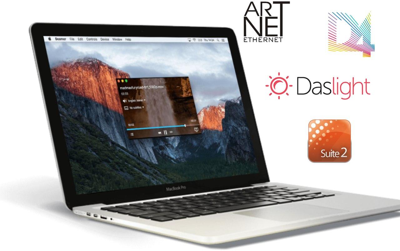 Yarilo PRO - MacBook и USB DMX контроллер